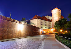 Wawel Castle in the evening in Krakow, Poland Stock Photography