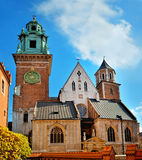 Wawel castle facade Stock Images