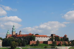 The wawel castle in krakov Royalty Free Stock Photos