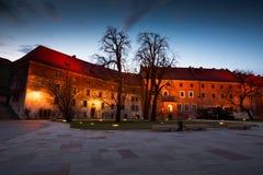 Wawel castle in Krakow. Royalty Free Stock Image