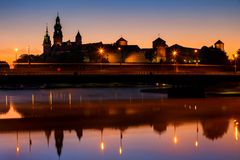 Wawel Castle in Krakow at Dawn royalty free stock photography