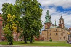 Wawel Castle in Krakow Stock Image