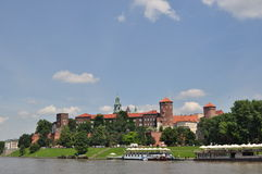 Wawel Castle in Krakow Royalty Free Stock Photography