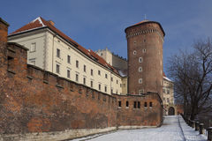 Wawel Castle - Krakow - Poland. The Senatorska Tower at the Royal Castle on Wawel Hill in the city of Krakow in Poland Stock Photos