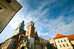 Wawel castle in Krakow, Poland Royalty Free Stock Photos