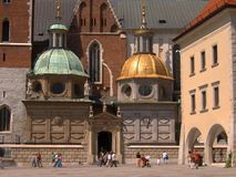 Wawel castle in Krakow, Poland royalty free stock images
