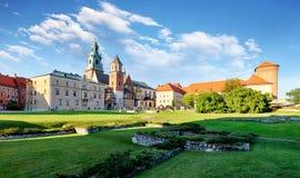 Wawel castle in Krakow, Poland Stock Image