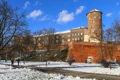 The Wawel Castle Krakow, Poland Royalty Free Stock Images