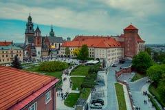 Wawel castle in Krakow. Poland Royalty Free Stock Photos