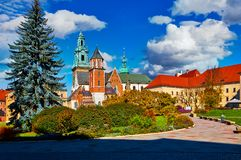 Wawel castle in Krakow, Poland royalty free stock photography