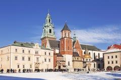 The Wawel castle in Krakow Stock Photography