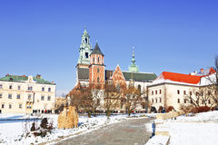 Wawel castle in Krakow , Poland Stock Image