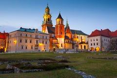 Wawel castle in Krakow. Stock Images