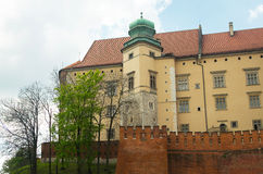 Wawel Castle in Krakow. Royalty Free Stock Images