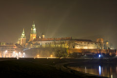 Wawel castle in night Stock Photos