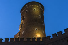 Wawel castle by night Stock Photos