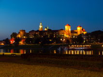 Wawel Castle by night Royalty Free Stock Images