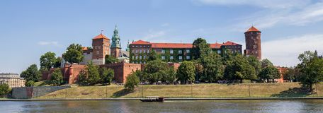 Wawel castle panorama , Krakow, Poland Royalty Free Stock Photos