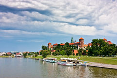 Wawel Castle and park Stock Image
