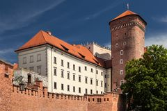 Wawel Castle in Poland. Cracow in a first capital of Poland. Stock Photography