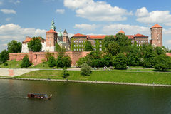 Wawel Castle, Royal palace in Cracow Stock Photos