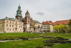 Wawel Castle in the springtime - Krakow, Poland Royalty Free Stock Images