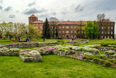 Wawel Castle in the springtime - Krakow, Poland Stock Photo