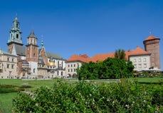 Wawel Castle square in Krakow Royalty Free Stock Photo