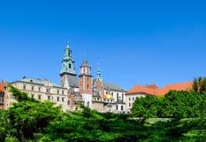 Wawel Castle square in Krakow Stock Photography