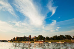 Wawel Castle on sunny day in Kracow Royalty Free Stock Image