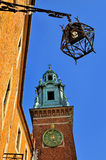 Wawel Castle Tower. With big clock Royalty Free Stock Photos