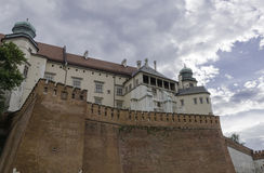 Wawel castle. Vie of the Krakow buildings on Wawel castle in Poland Royalty Free Stock Images