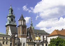 Wawel Castle. Vie of the Krakow cathedral on Wawel castle in Poland Royalty Free Stock Photo