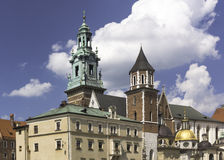 Wawel castle. Vie of the Krakow cathedral on Wawel castle in Poland Stock Photo