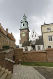 Wawel castle. Vie of the Krakow cathedral on Wawel castle in Poland Stock Images