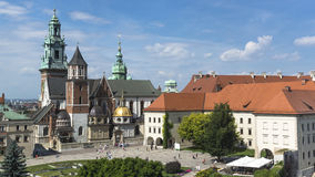 Wawel Castle. Vie of the Krakow cathedral on Wawel castle in Poland Royalty Free Stock Photography