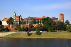 Wawel Castle on the Vistula river in Cracow (Krakow), Poland Stock Image