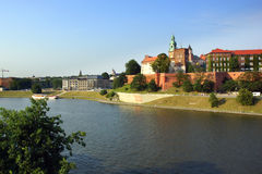 Wawel Castle on the Vistula river in Cracow (Krakow), Poland Stock Photo