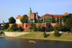 Wawel Castle on the Vistula river in Cracow (Krakow), Poland. Wawel Castle on the Vistula river in Cracow, Poland Stock Photo