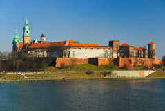 Wawel castle on the Vistula river, Cracow, Poland Stock Image