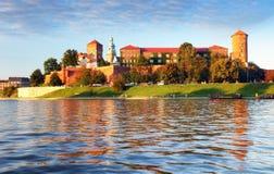 Wawel castle of Vistula river in Krakow city, Poland Stock Photos