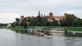 Wawel Castle and Vistula river in Krakow, Poland Stock Photo