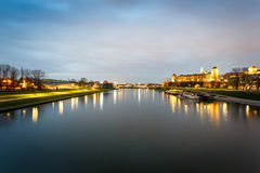 Wawel Castle and Vistula river in Krakow, Poland Stock Image