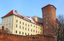 Wawel castle in the winter Stock Photo