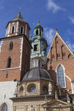 Wawel Cathedral - coronation place of Polish kings, Krakow, Poland Royalty Free Stock Photography
