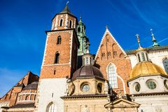 Wawel Cathedral - famous Polish landmark on the Wawel Hill in Cracow Stock Photos