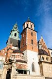 Wawel Cathedral - famous Polish landmark on the Wawel Hill in Cracow Royalty Free Stock Photography