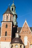 Wawel Cathedral - famous Polish landmark on the Wawel Hill in Cracow Stock Images