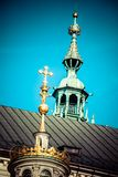 Wawel Cathedral - famous Polish landmark on the Wawel Hill in Cracow Royalty Free Stock Photos