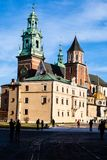 Wawel Cathedral - famous Polish landmark on the Wawel Hill in Cracow Stock Image